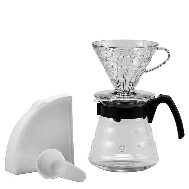Hario V60 Kaffeezubereitungsset - Glas, Kunststoff