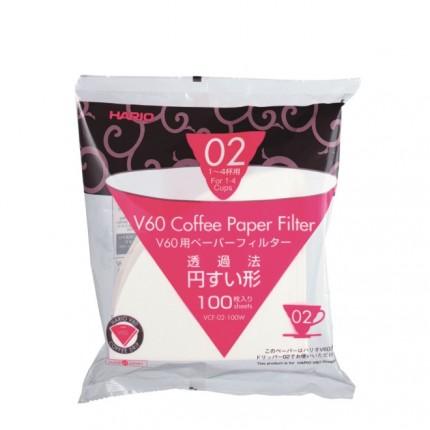 Hario V60 Kaffeefilter V60 Größe 02 - Papier, 100 Stück